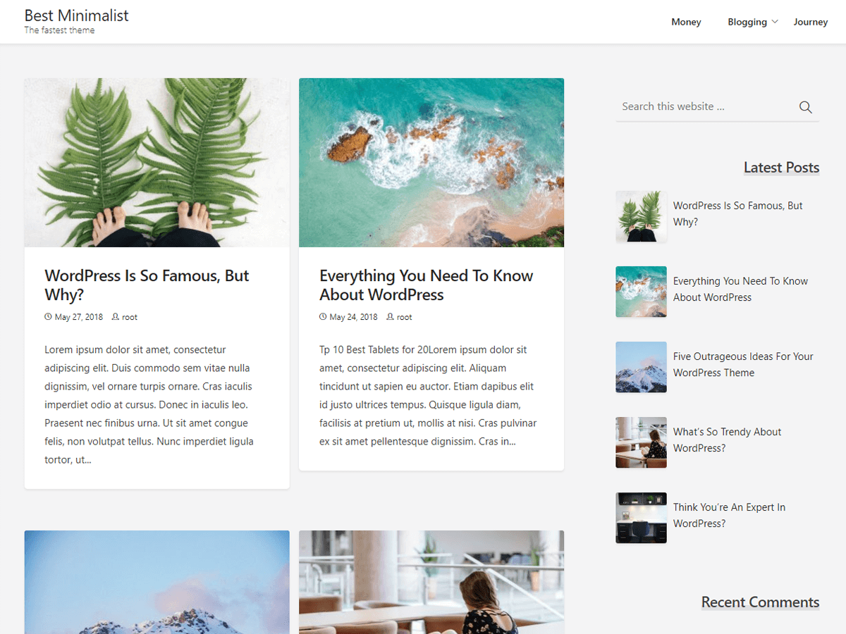 Best Minimalist Download Free Wordpress Theme 2