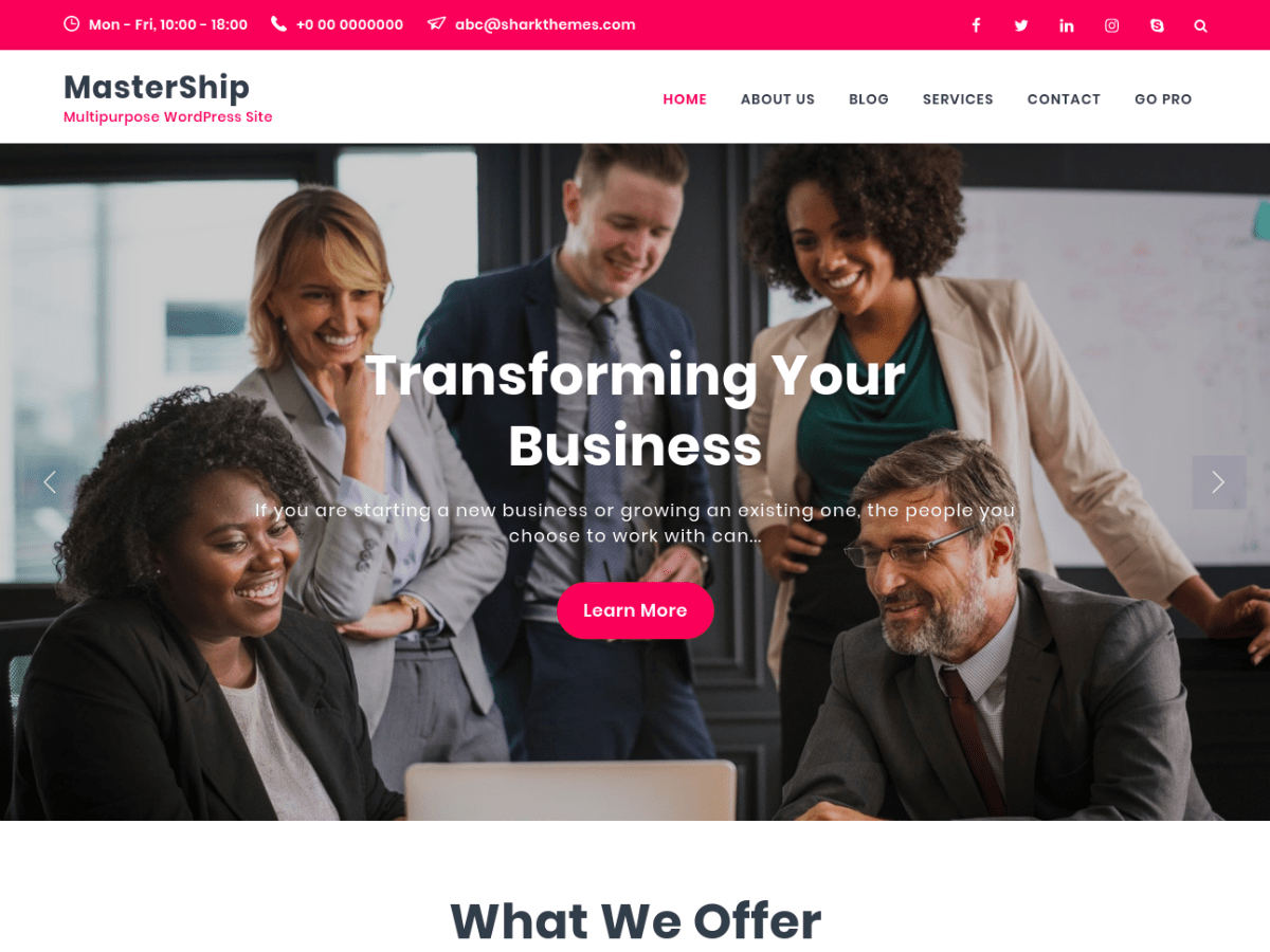 Mastership Download Free Wordpress Theme 2