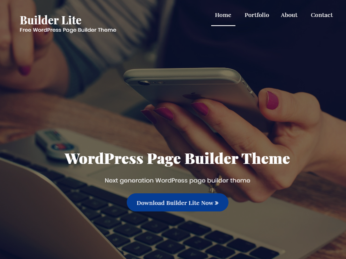 Builder Lite Download Free Wordpress Theme 1