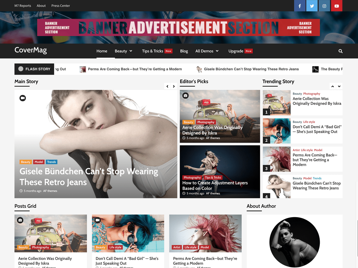 CoverMag Download Free Wordpress Theme 5