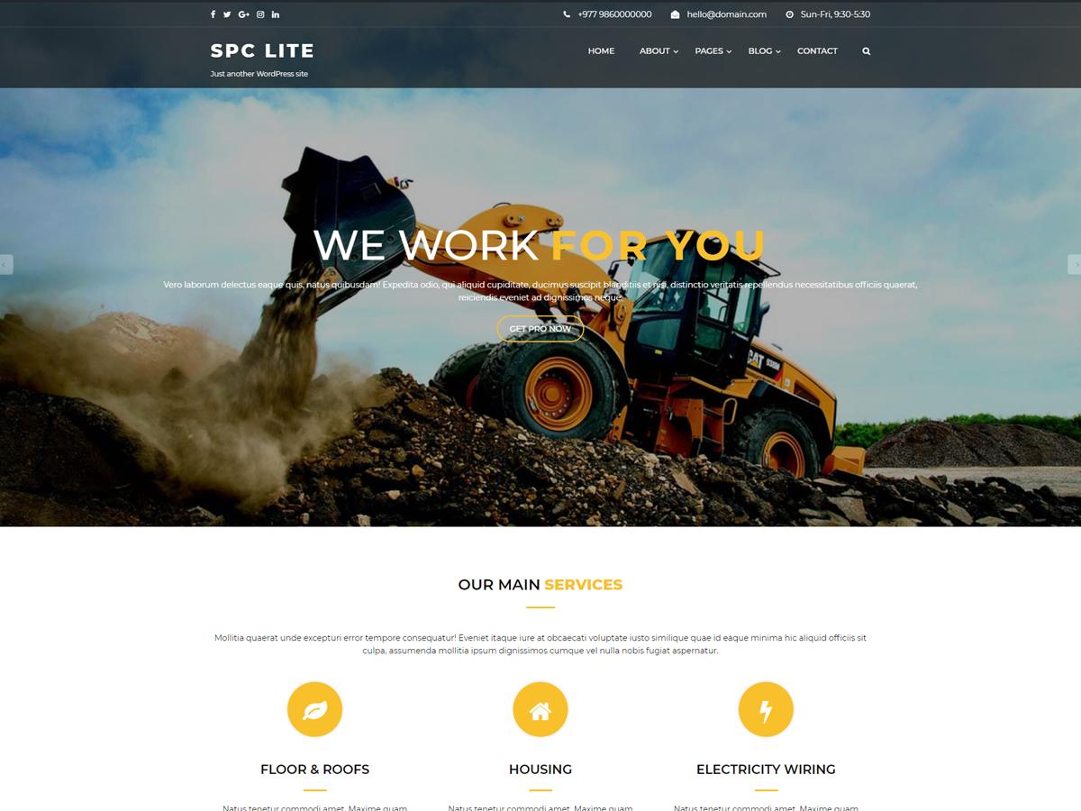 Spark Construction Lite Download Free Wordpress Theme 3