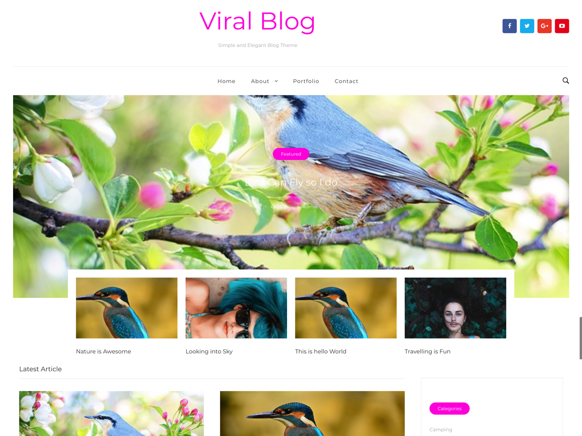 Viral Blog Download Free Wordpress Theme 1