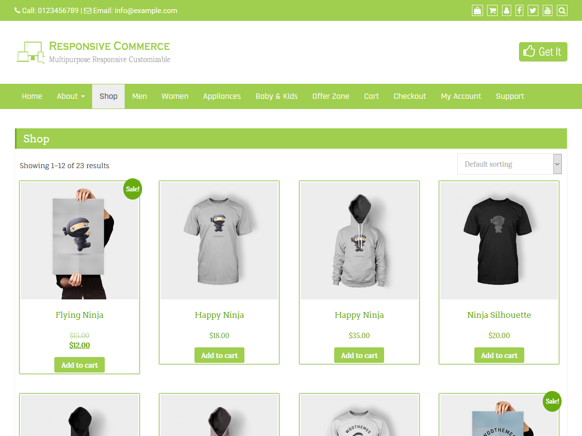 Responsive Commerce Download Free Wordpress Theme 2