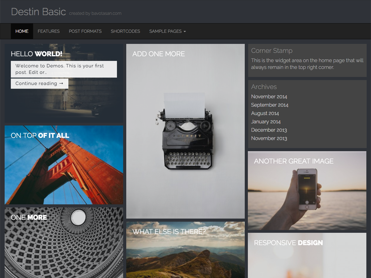 Destin Basic Download Free Wordpress Theme 2