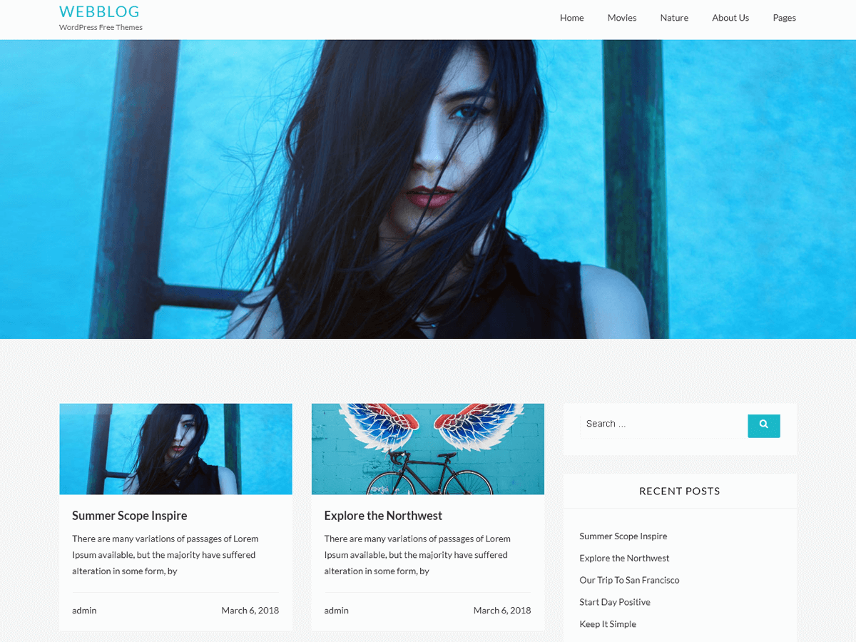 Webblog Download Free WordPress Theme