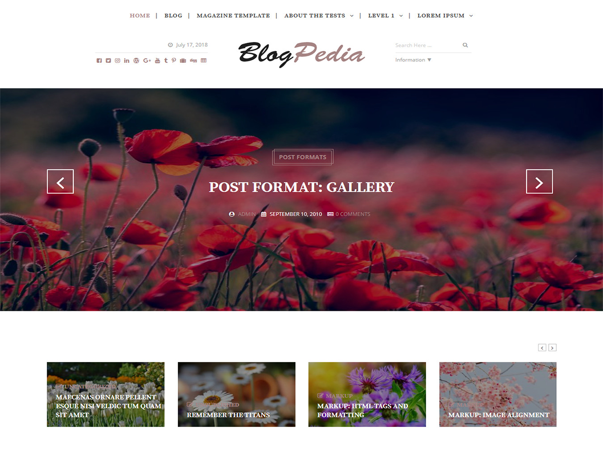 Blogpedia Download Free Wordpress Theme 1