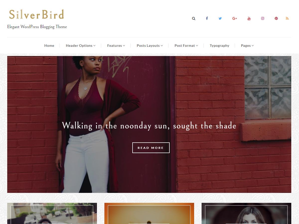 SilverBird Download Free Wordpress Theme 1
