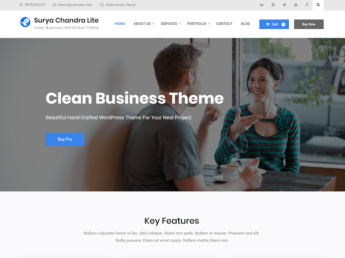 Surya Chandra Lite Download Free Wordpress Theme 1