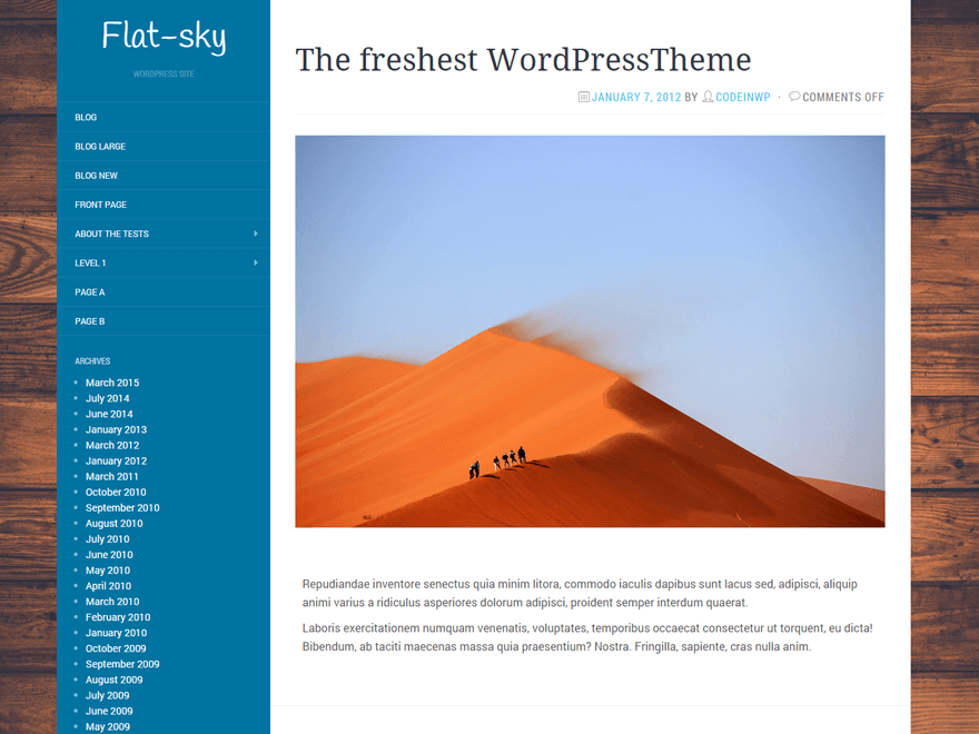 Flat-Sky Download Free Wordpress Theme 1