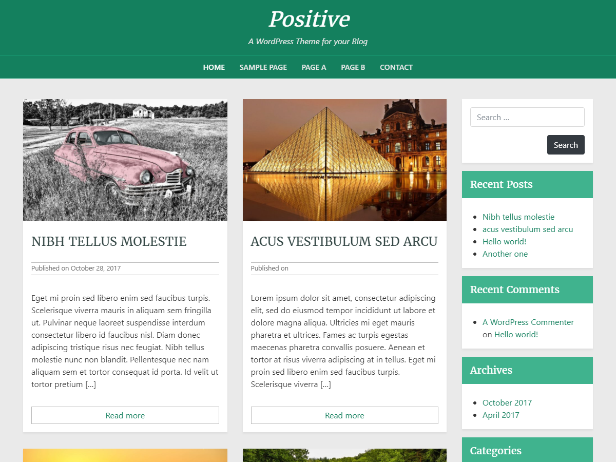 Positive blog Download Free Wordpress Theme 1