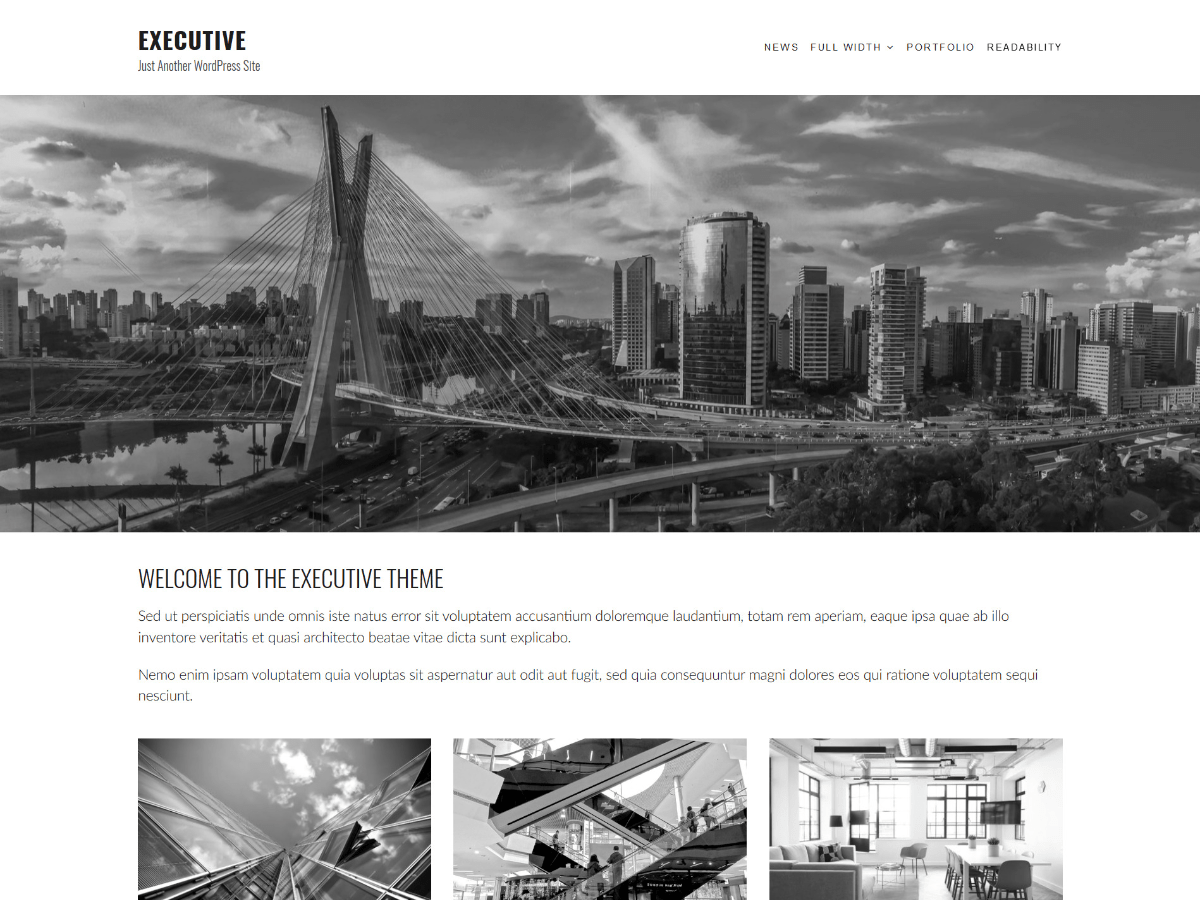 Executive Download Free Wordpress Theme 2