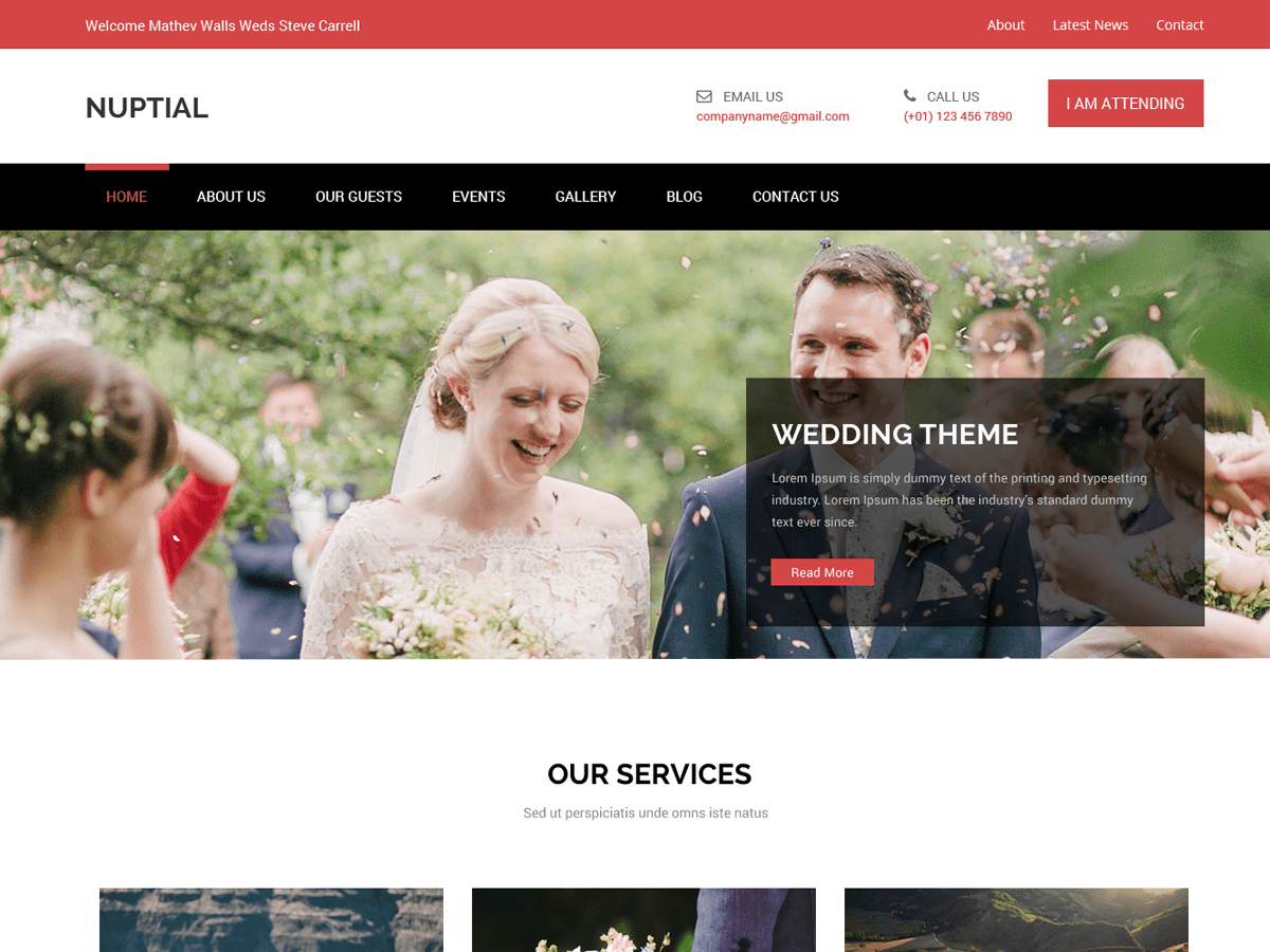 Nuptial Download Free Wordpress Theme 5