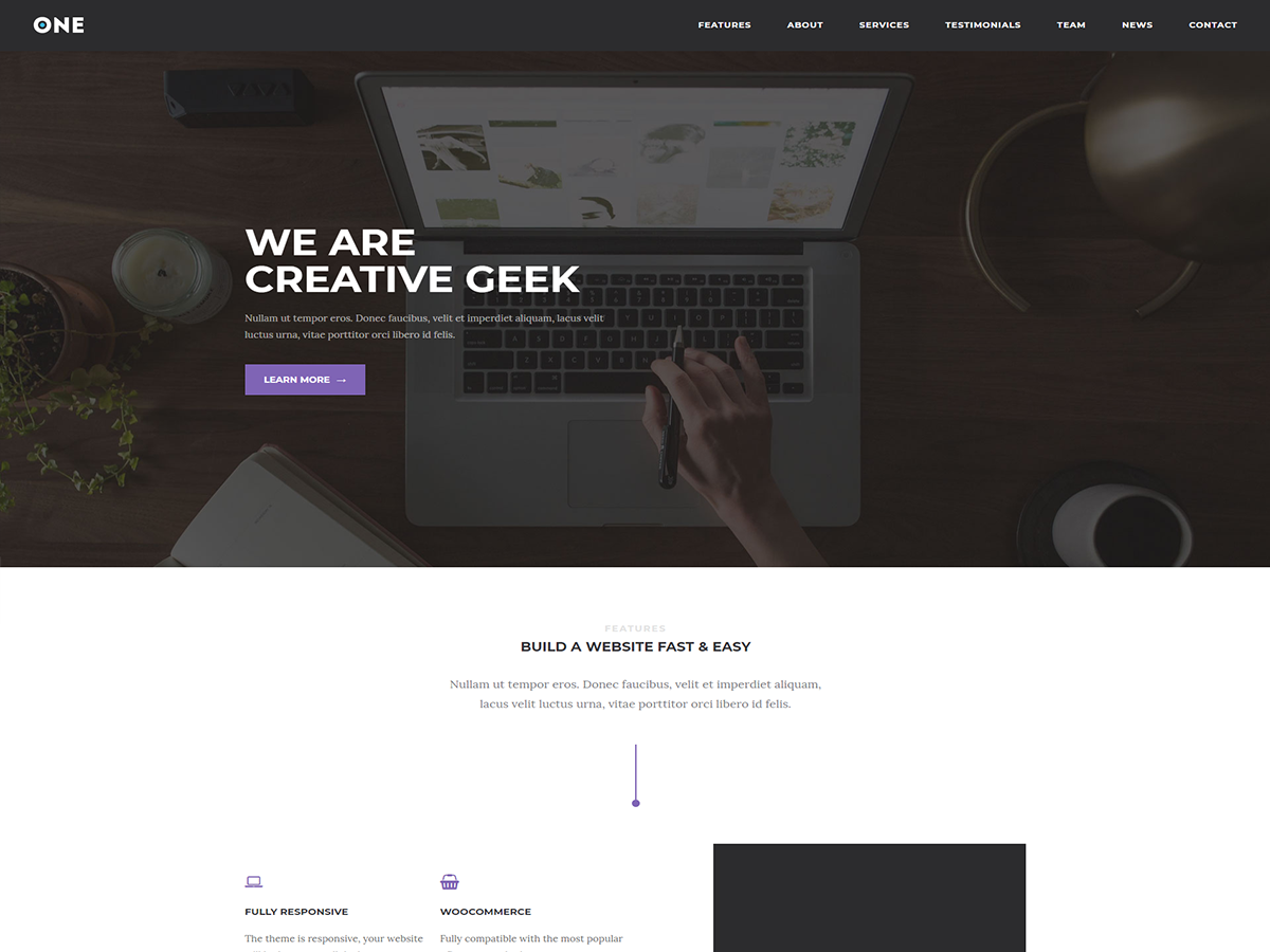 Meridian One Download Free Wordpress Theme 4