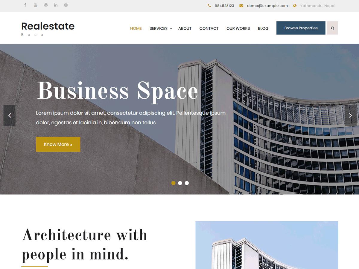 Realestate Base Download Free Wordpress Theme 1