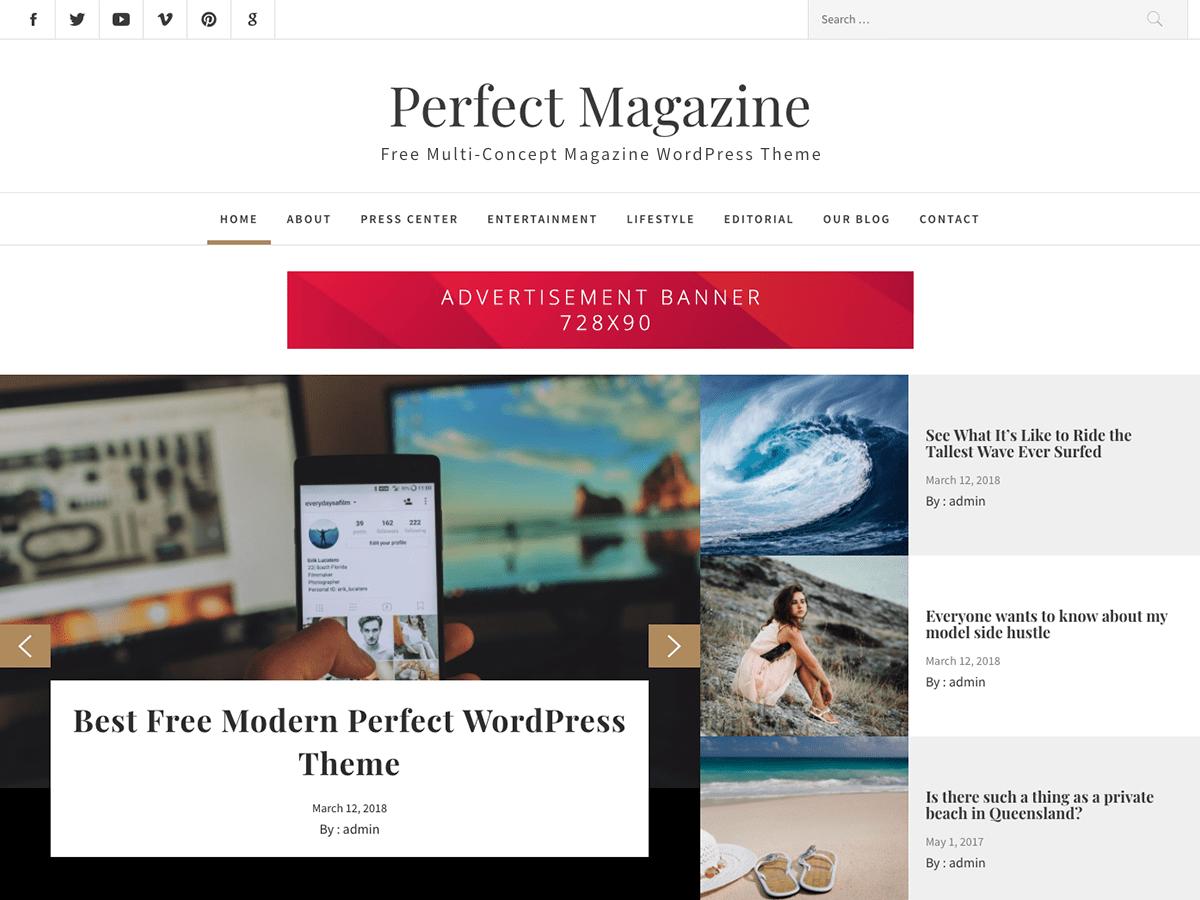 Perfect Magazine Download Free Wordpress Theme 2