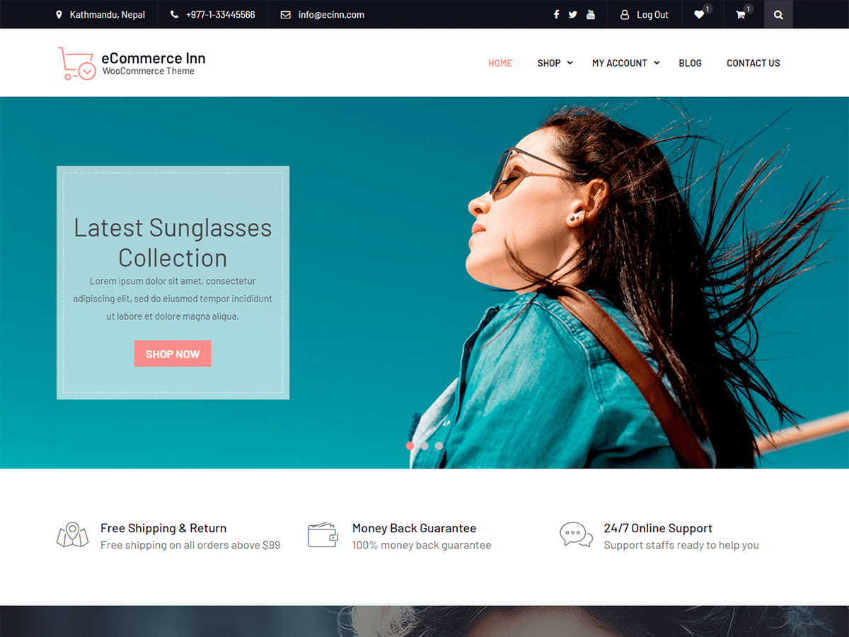eCommerce Inn Download Free Wordpress Theme 3