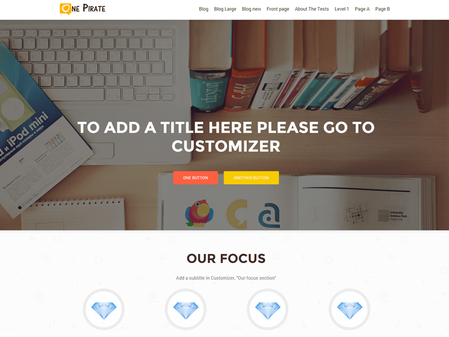 OnePirate Download Free Wordpress Theme 4