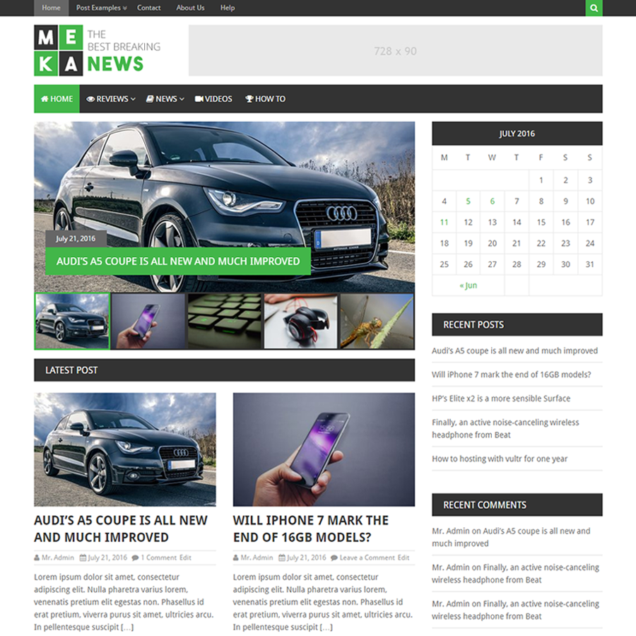 MekaNews Lite Download Free Wordpress Theme 1