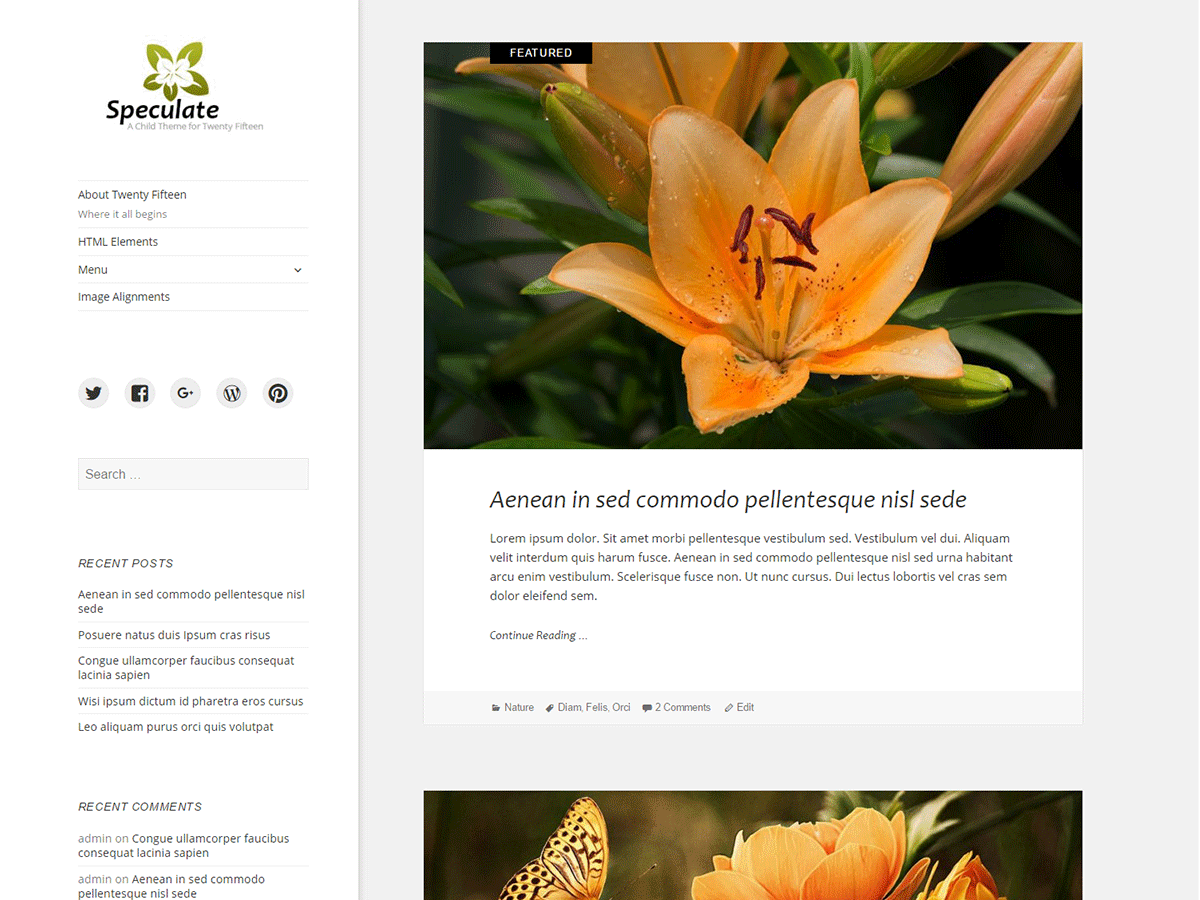 Speculate Download Free Wordpress Theme 5