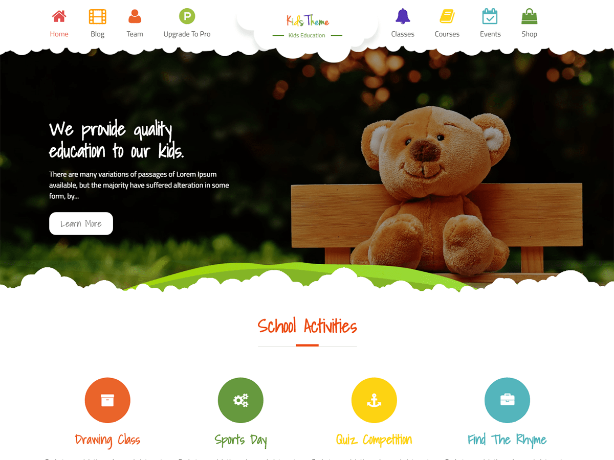 Kids Education Download Free Wordpress Theme 4