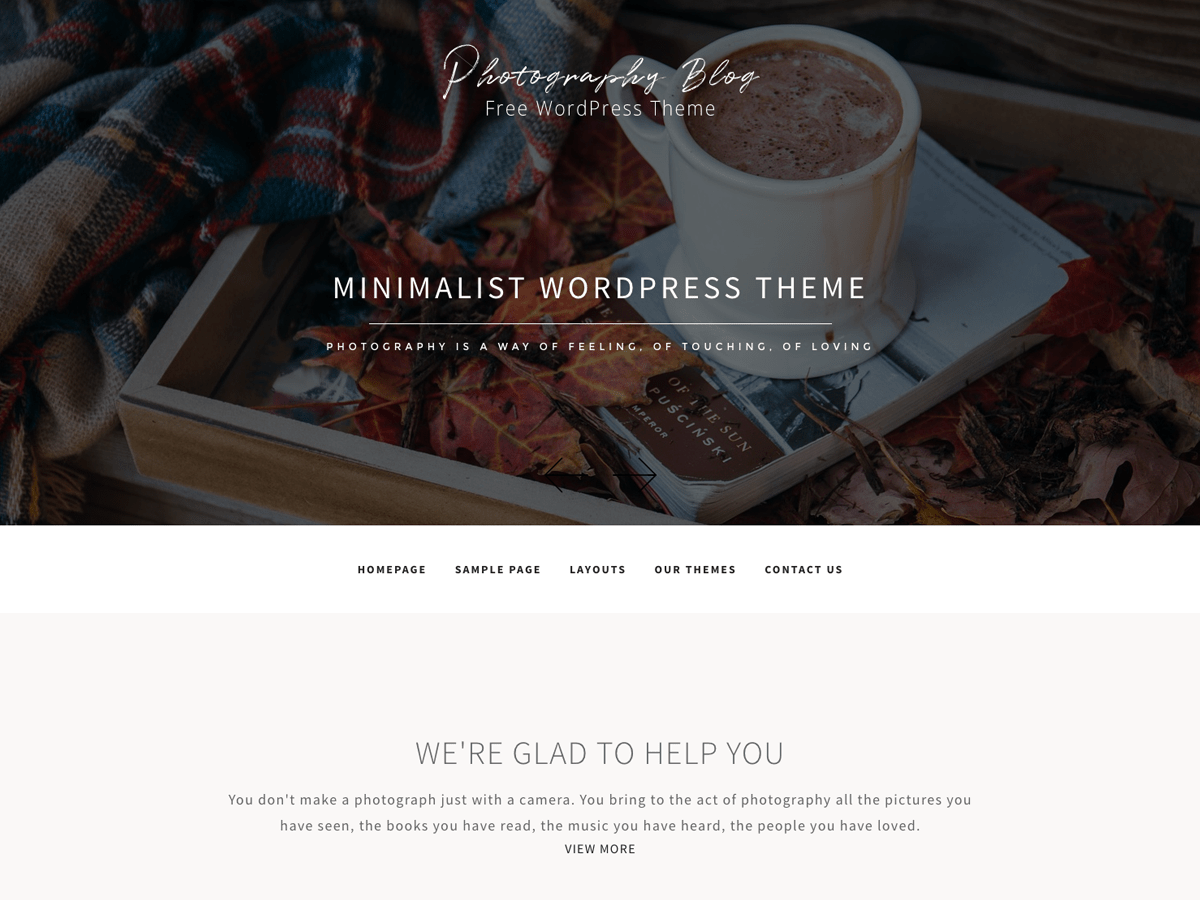 Photography Blog Download Free Wordpress Theme 5