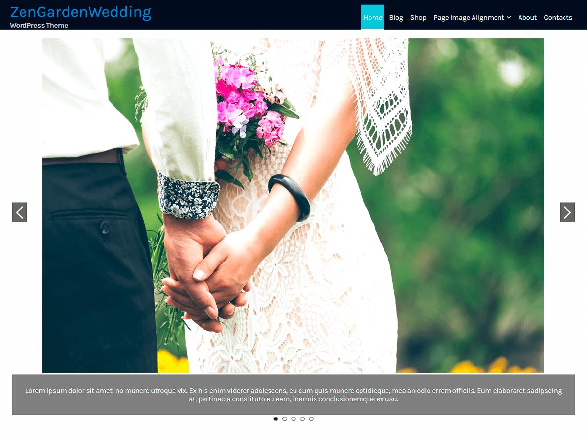 ZenGardenWedding Download Free Wordpress Theme 4