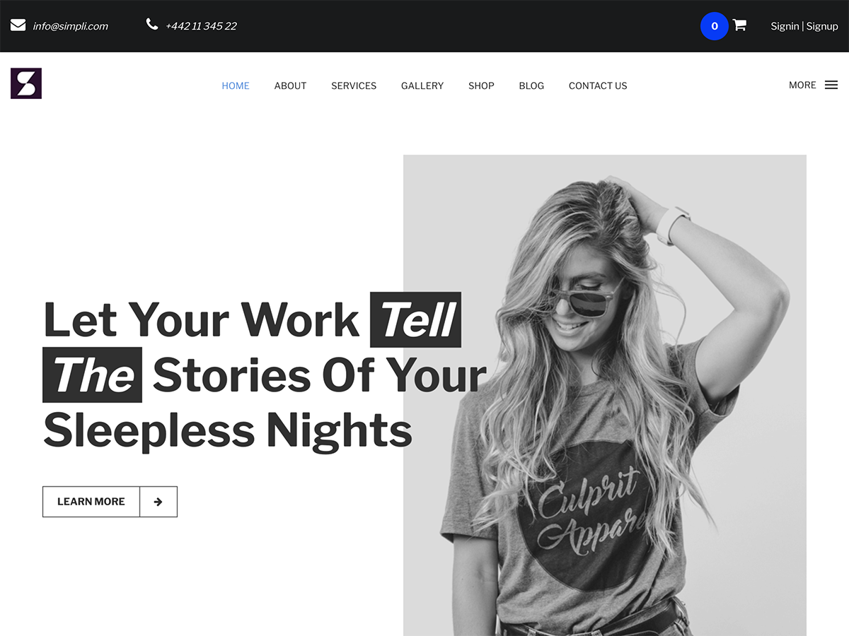 Simpli Download Free Wordpress Theme 1