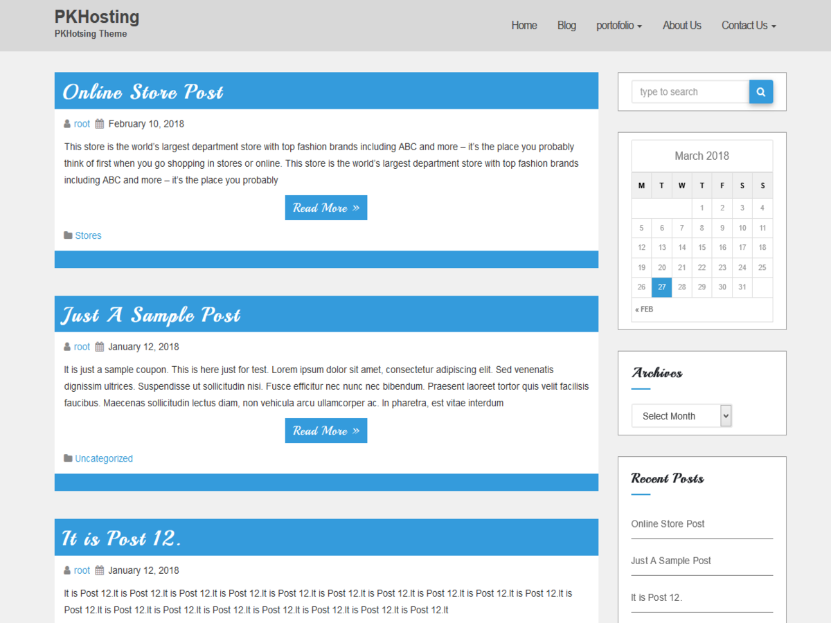 PKHosting Download Free Wordpress Theme 5