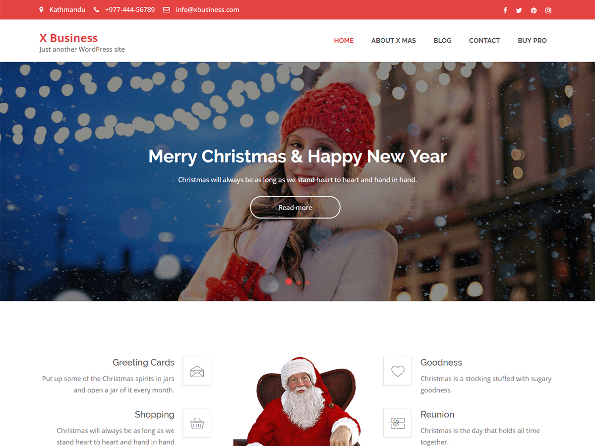 X Business Download Free Wordpress Theme 5