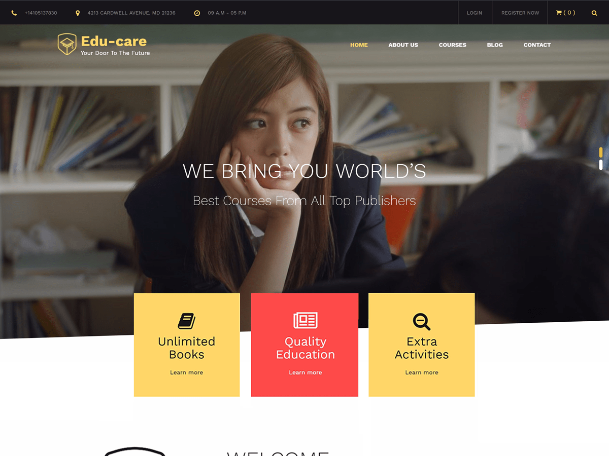 Edu Care Download Free Wordpress Theme 5