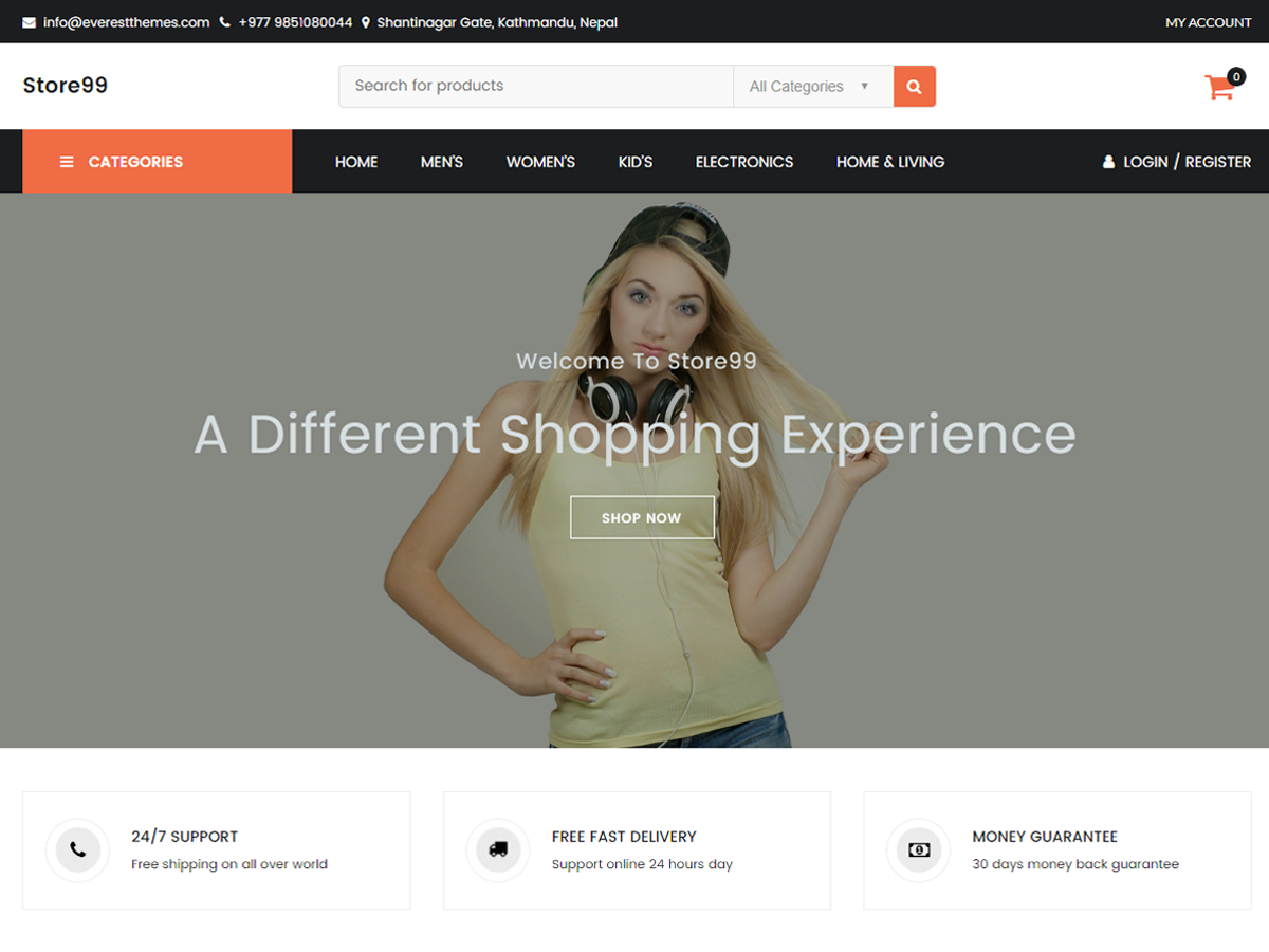 Store99 Download Free Wordpress Theme 5