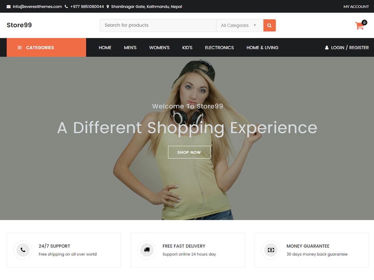 Store99 Download Free Wordpress Theme 3