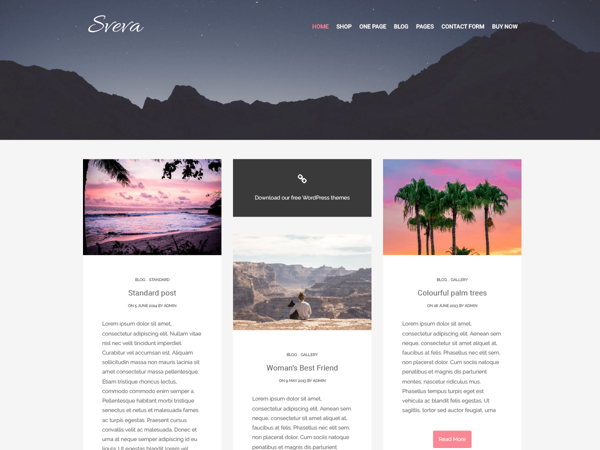 Sveva Download Free Wordpress Theme 3
