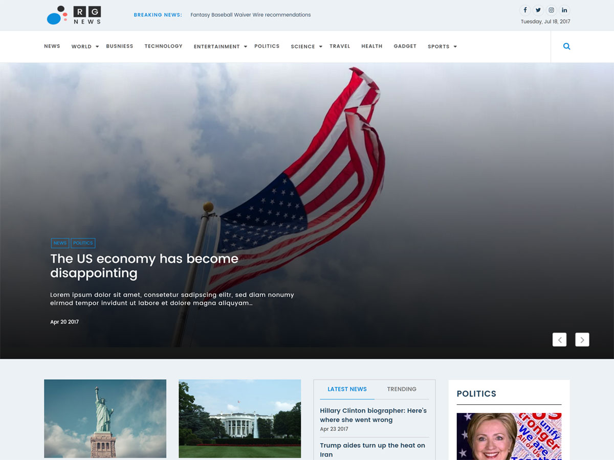 Online News Download Free Wordpress Theme 4