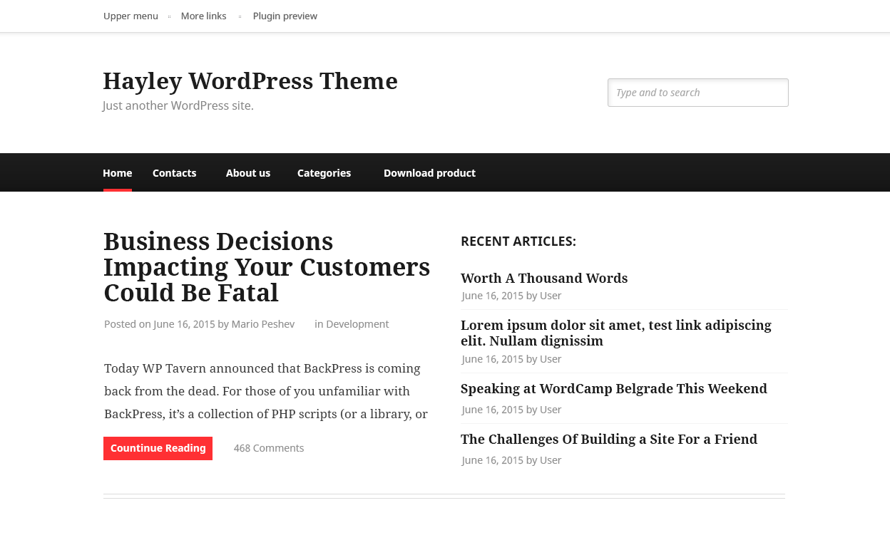 Hayley Download Free Wordpress Theme 3