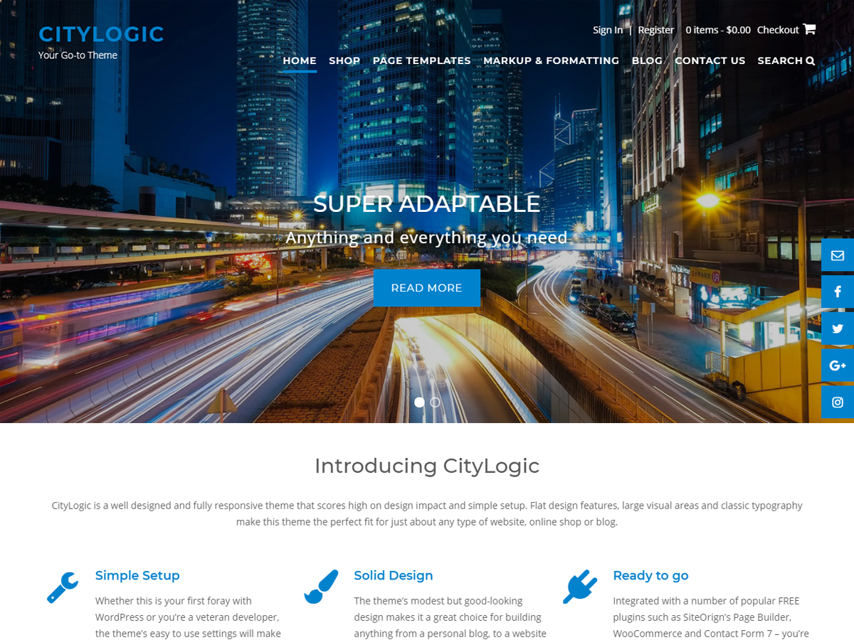 CityLogic Download Free Wordpress Theme 2