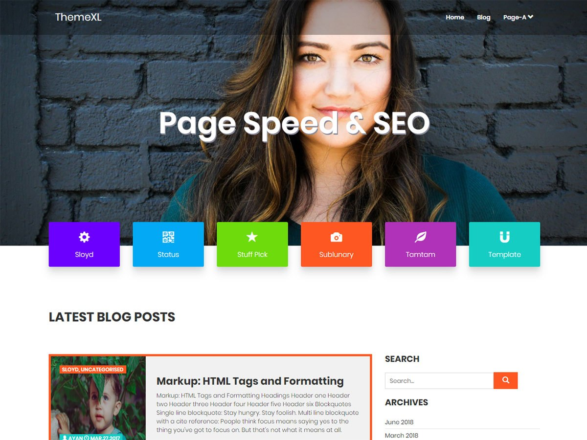 Page Speed & SEO Download Free Wordpress Theme 3