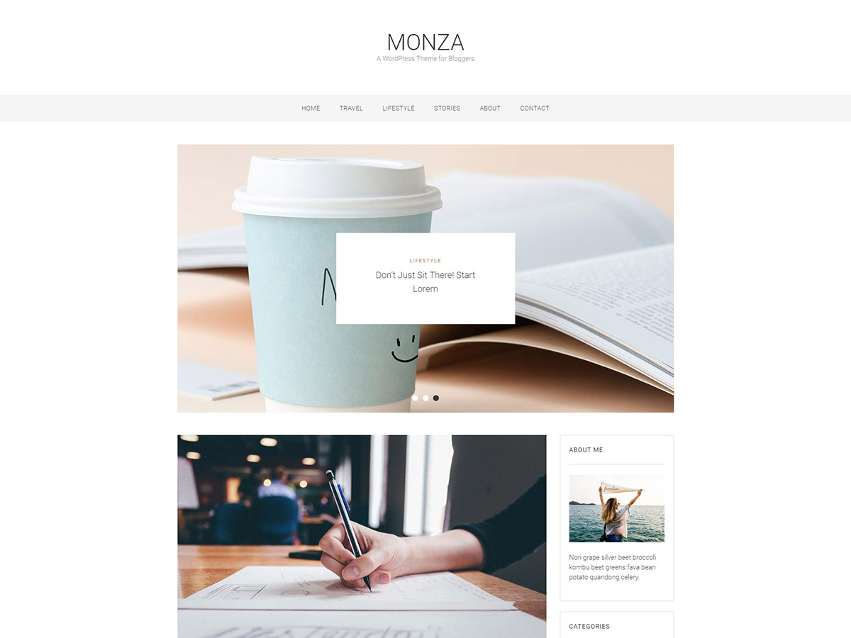 Monza Download Free Wordpress Theme 3
