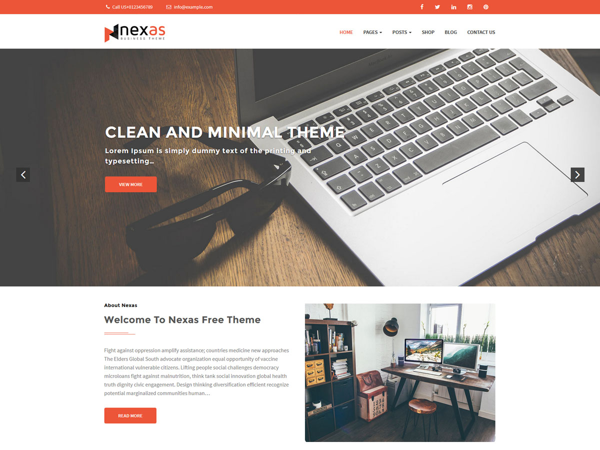 Nexas Download Free Wordpress Theme 3