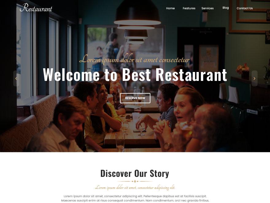 Best Restaurant Download Free Wordpress Theme 2