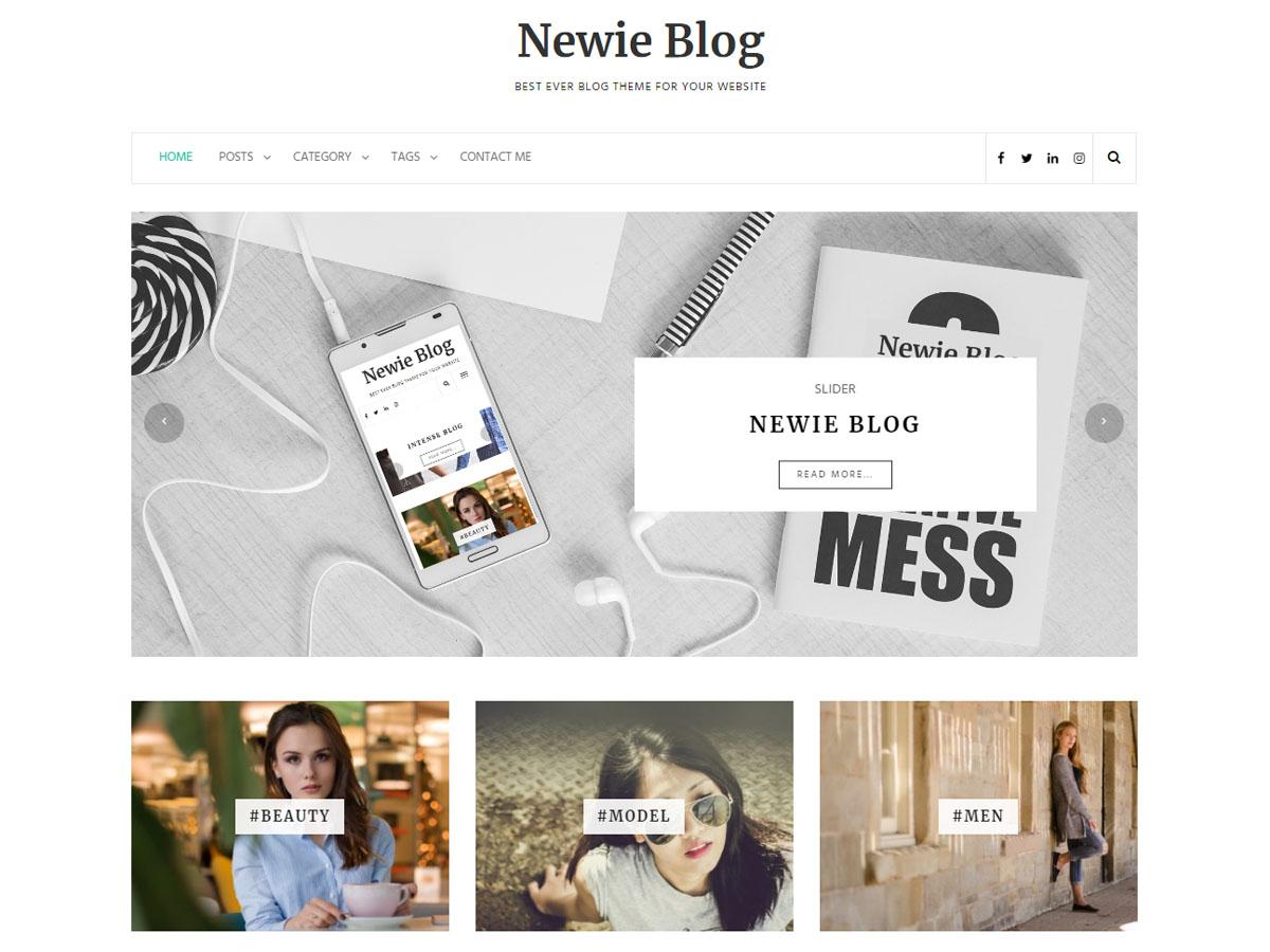 Newie Download Free Wordpress Theme 1