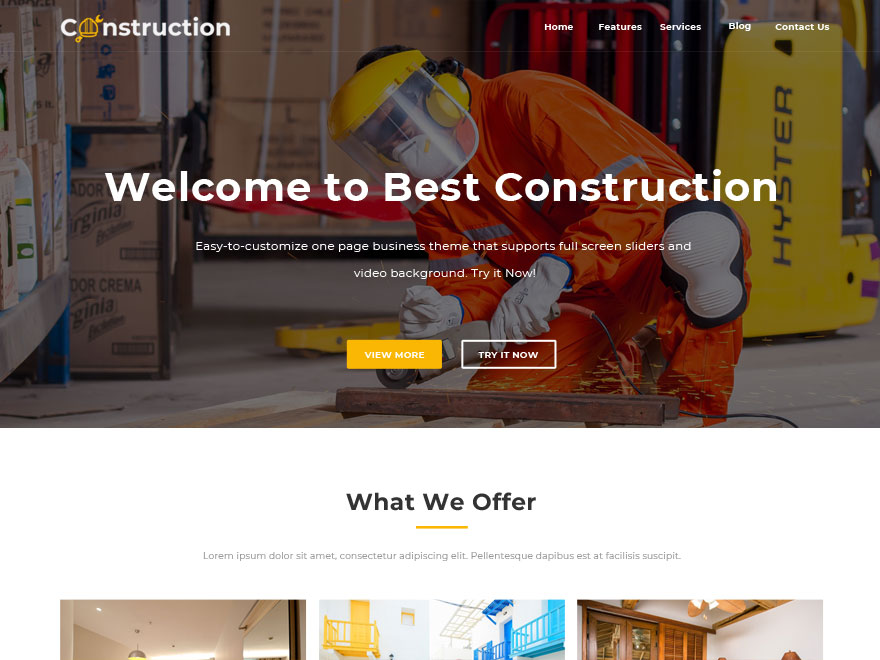 Best Construction Download Free Wordpress Theme 1