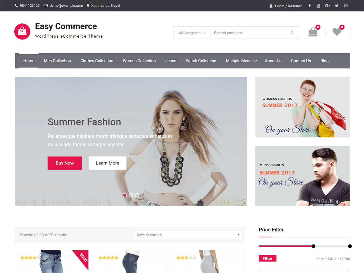 Easy Commerce Download Free Wordpress Theme 1