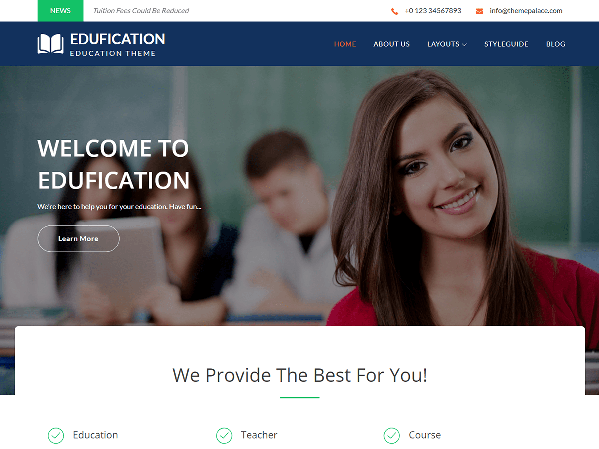 Edufication Download Free Wordpress Theme 5