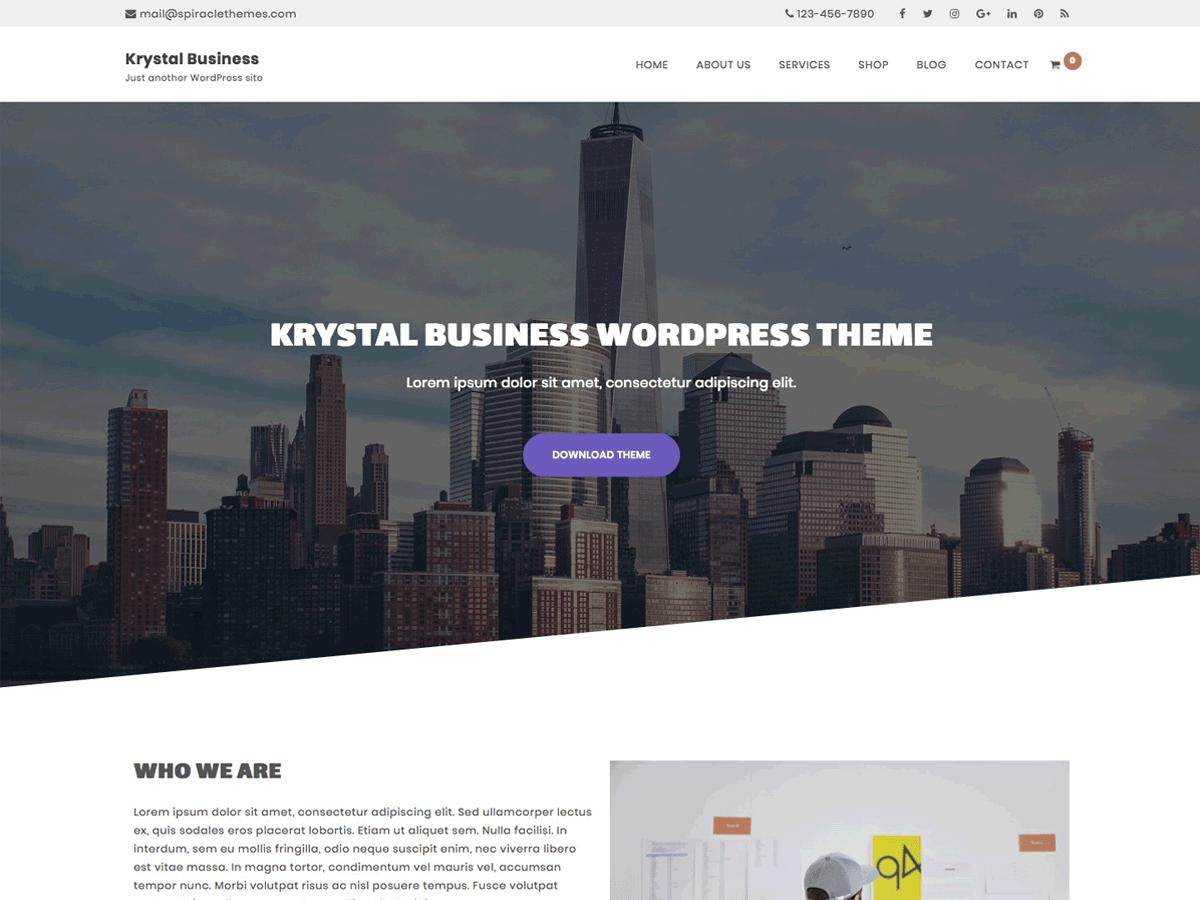 Krystal Business Download Free Wordpress Theme 1