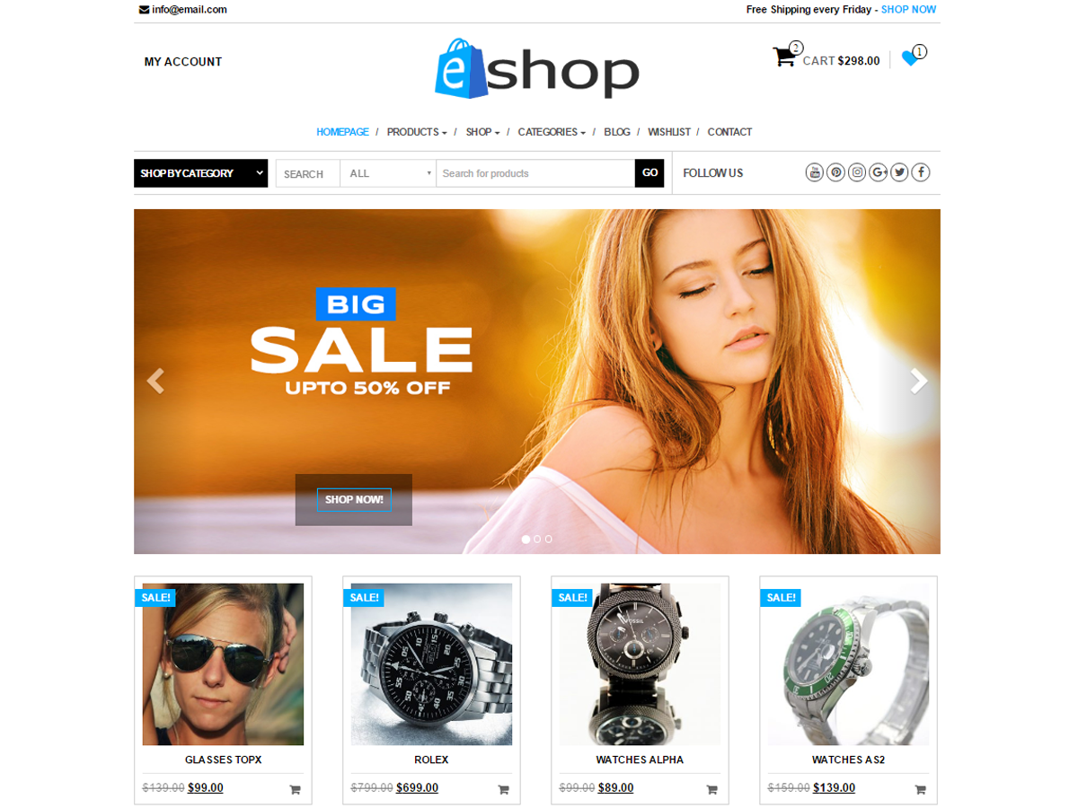 E-Shop Download Free Wordpress Theme 4