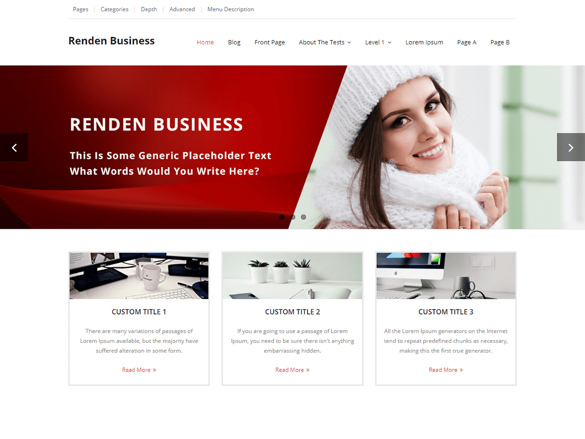 Renden Business Download Free Wordpress Theme 2