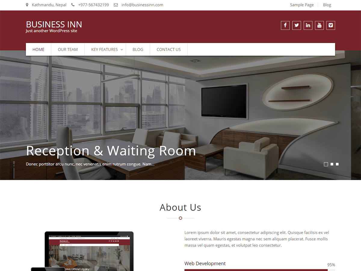 Business Inn Download Free Wordpress Theme 1