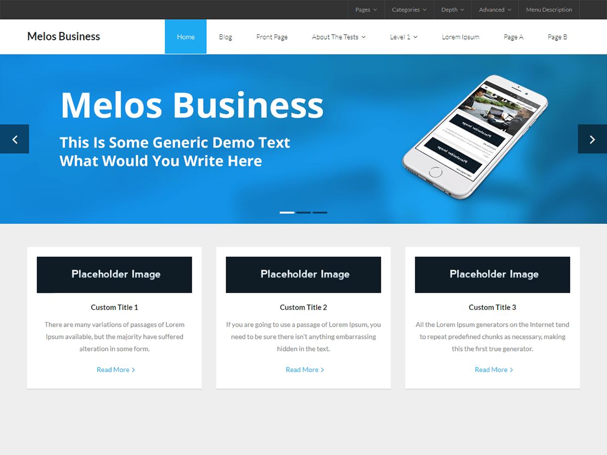 Melos Business Download Free Wordpress Theme 1