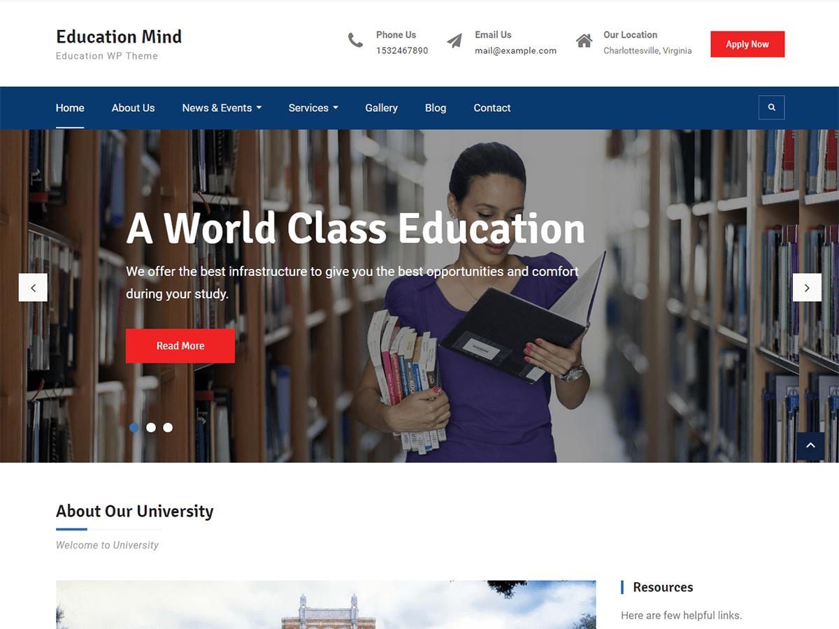 Education Mind Download Free Wordpress Theme 1